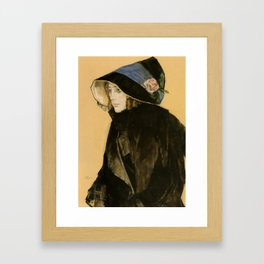 Leo Gestel - Portrait of a Young Woman Framed Art Print