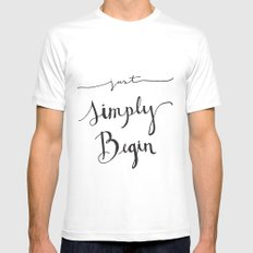 Simply Begin Mens Fitted Tee MEDIUM White