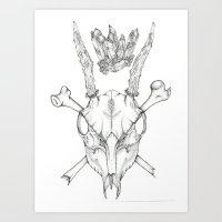 Crystal Deer Art Print