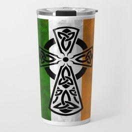 Irish flag -CelticCross St. Patricks Day Perfect Gift Shirt Travel Mug
