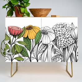 First summer blooms Credenza