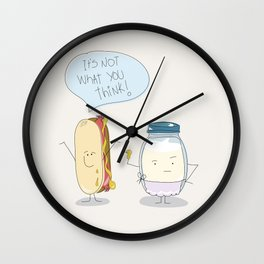 Hot Dog / The spicy sausage Wall Clock