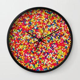 Round Sprinkles Wall Clock