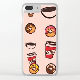 coffee&donuts Clear iPhone Case