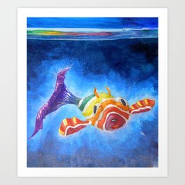 Fish Pup Art Print