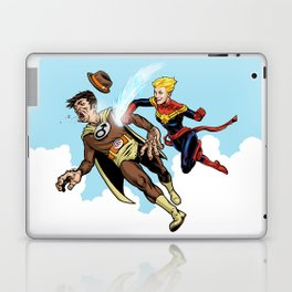 Superhero defeats the Groper Laptop & iPad Skin