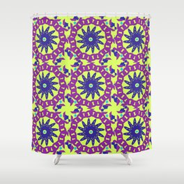 Chained Link Purple Spiral Flowers Shower Curtain