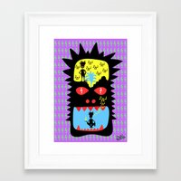 pixies Framed Art Prints featuring Everyday I wisthle thanks to the wisthle pixies by Dom Barra