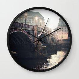 Evening Bridge Wall Clock