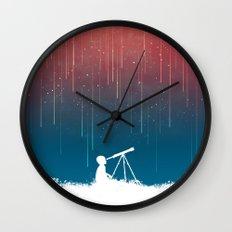 Meteor Rain (light version) Wall Clock