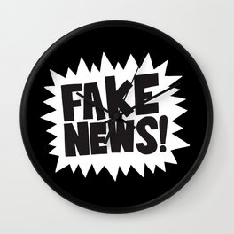 Fake news Wall Clock