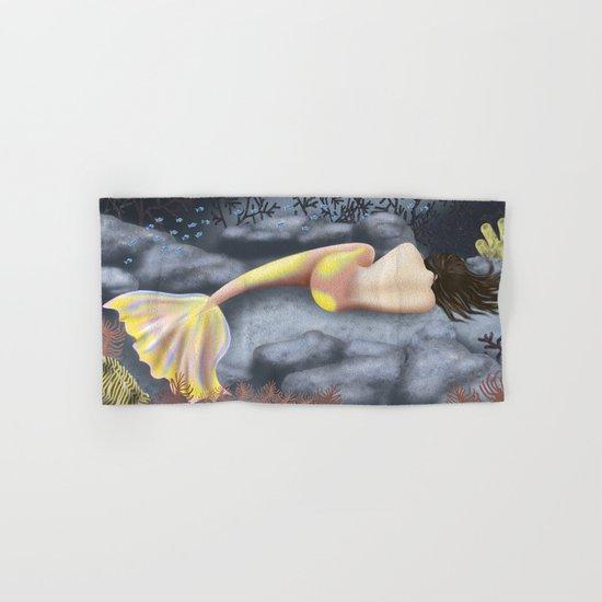 Sleeping Mermaid Hand & Bath Towel