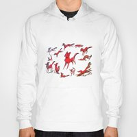 foxes Hoodies featuring Foxes by Kit Seaton