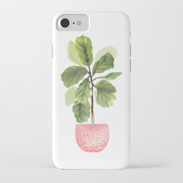 Fiddle-Leaf Fig (Watercolor) iPhone Case