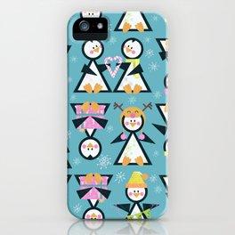 Penguin Party iPhone Case