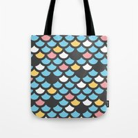 scales Tote Bags featuring Scales by SKUDIAdesigns