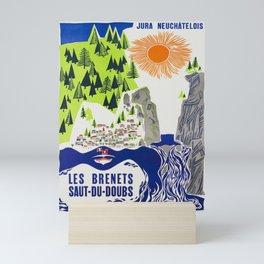 les brenets saut du doubs  les vintage Poster Mini Art Print