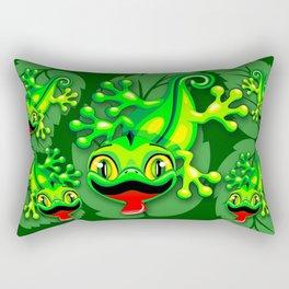 Gecko Lizard Baby Cartoon Rectangular Pillow