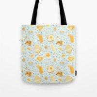 breakfast Tote Bags featuring Breakfast by Ambi Sweetie Pie