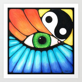 Philosophical Eye Art Print