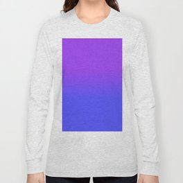 Neon Blue and Bright Neon Purpel Ombré Shade Color Fade Long Sleeve T-shirt