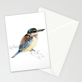 Mr Kōtare, New Zealand native kingfisher bird Stationery Cards