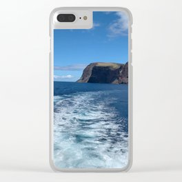 Ocean Whale Tail Clear iPhone Case