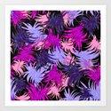 Tropical Leaves lila, pink, rose by ranitasart
