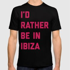 Be In Ibiza Music Quote Mens Fitted Tee MEDIUM Black