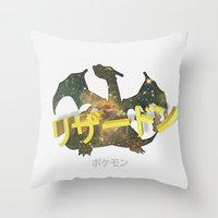 charizard Throw Pillows featuring Charizard by Thomas Official