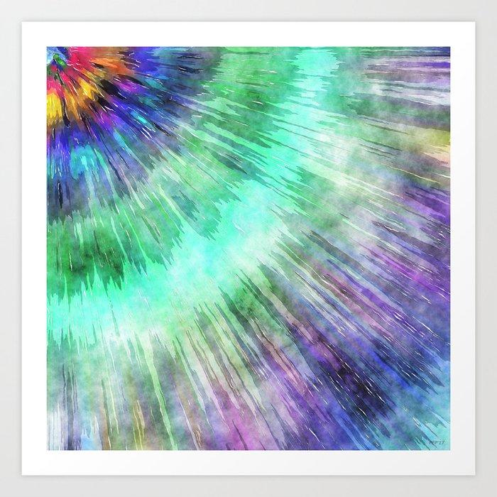 Colorful Tie Dye Watercolor Art Print