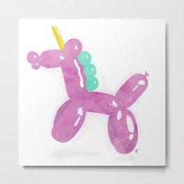 Balloonicorn - Pink Metal Print