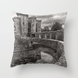 The Castle Moat Throw Pillow