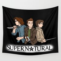 supernatural Wall Tapestries featuring Supernatural by KewlZidane