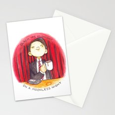 Black as midnight on a moonless night Stationery Cards