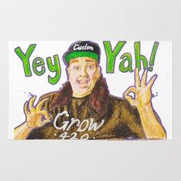 Customgrow420 YEY-YAH! Oil Pastel & Acrylic Rug