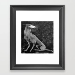 CHIEN Framed Art Print