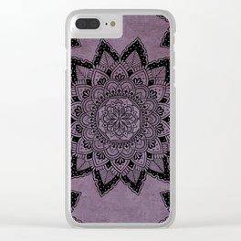 Mandala Art Purple Clear iPhone Case