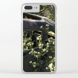 Parsley and rust Clear iPhone Case