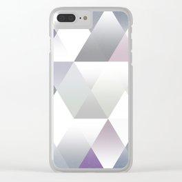 Silver Triangels N.2 Clear iPhone Case