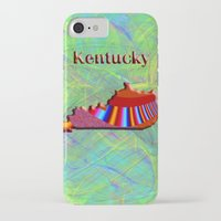 kentucky iPhone & iPod Cases featuring Kentucky Map by Roger Wedegis