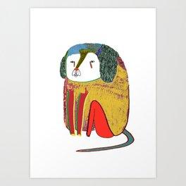 Dog. dogs, dog art, dog illustration, design Art Print