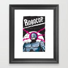 Robocop In Love Framed Art Print