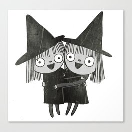 The Twin Witches Hug Canvas Print