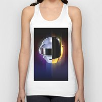 daft punk Tank Tops featuring Daft Punk by Alevan