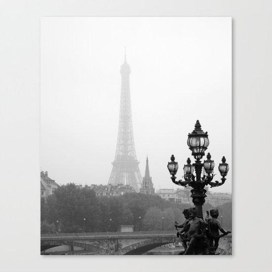 Veiled Eiffel Tower Canvas Print
