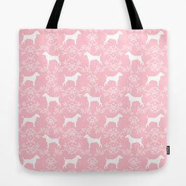 Jack Russell Terrier floral silhouette dog breed pet pattern silhouettes dog gifts pink Tote Bag