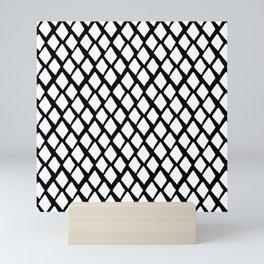 Rhombus White And Black Mini Art Print