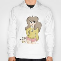 puppycat Hoodies featuring Bee and Puppycat by Lyndie Witt
