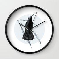 hummingbird Wall Clocks featuring Hummingbird by Heart of Hearts Designs